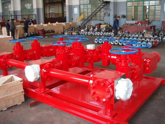 Onshore Drilling Well Control Equipment Hydraulic Drilling Choke Manifold
