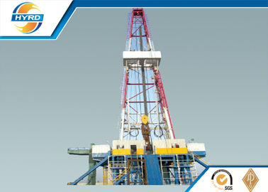 China Electrical Onshore Steel Oil Drilling Rig  , Oil Well Drilling Equipment Skid Mounted supplier