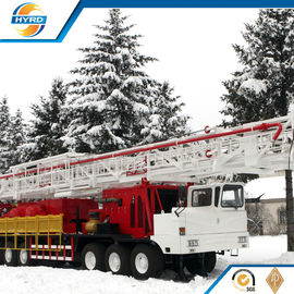 China Professional Onshore Oil Well Workover Oil Rig Truck Mounted Without Guyline supplier