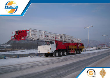 China Truck Mounted Onshore Oilfield Workover Rig , Workover Well Drilling Equipment distributor