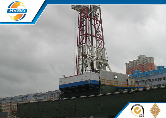 API Grade Land Oil Well Drilling Rig , Electrical Onshore Drilling Rig Equipment
