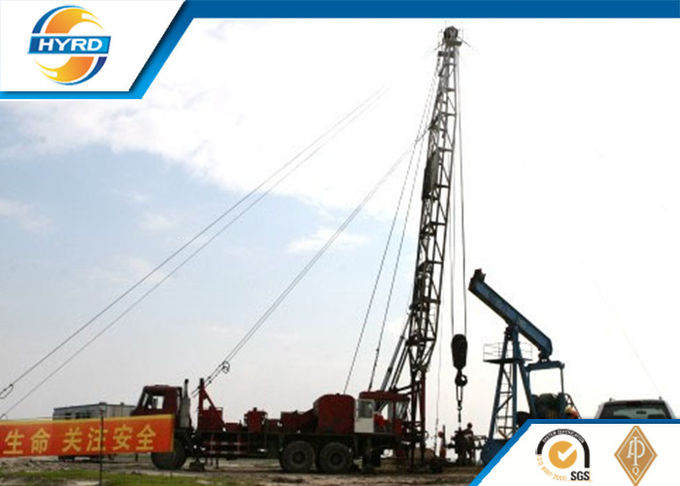 Professional Onshore Oil Well Workover Oil Rig Truck Mounted Without Guyline