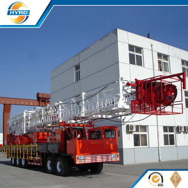 Truck Mounted Onshore Oilfield Workover Rig , Workover Well Drilling Equipment